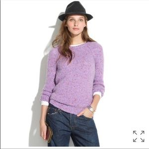 {MADEWELL} Purple Soft-fleck Wool Blend Sweater